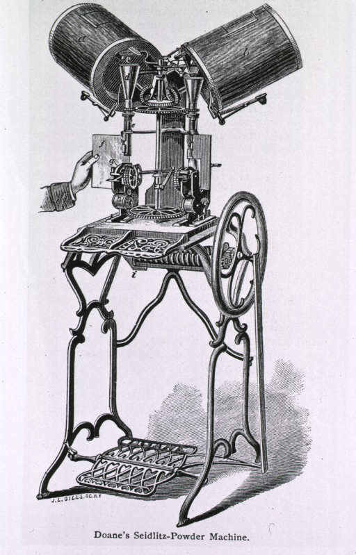 <p>Doane's Seidlitz machine.</p>