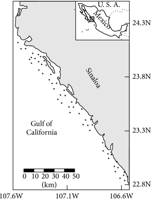 Map Of The Study Area In The Southeast Gulf Of Californ Open I