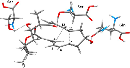 Optimized molecular structure of transition state VIII-TS.