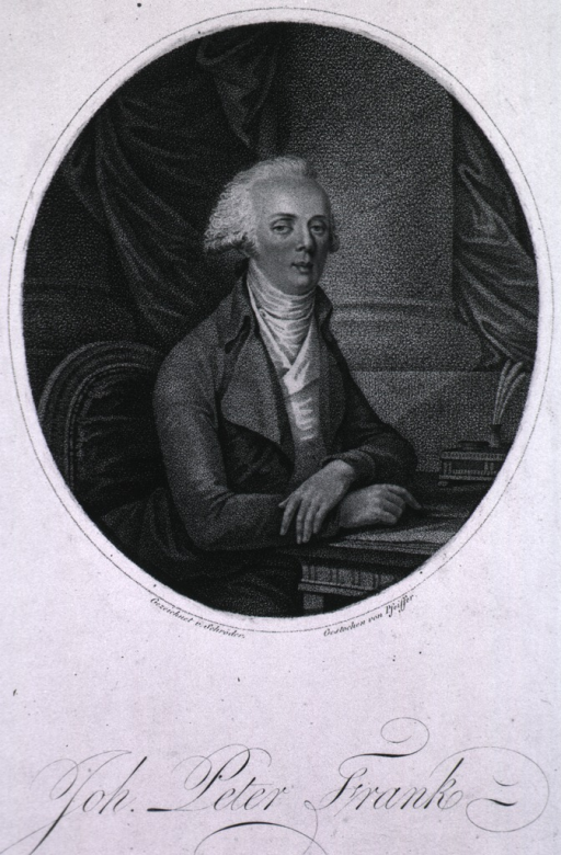 <p>Half-length, right pose, full face, seated at table, arms crossed and resting on table.</p>