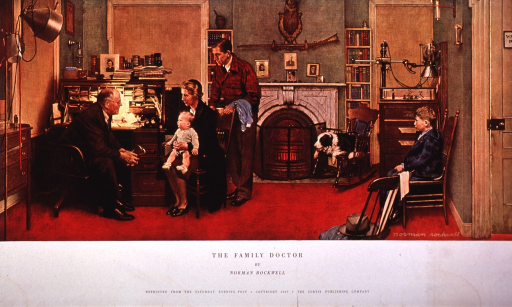 <p>Interior of a late 19th c. doctor's office.</p>