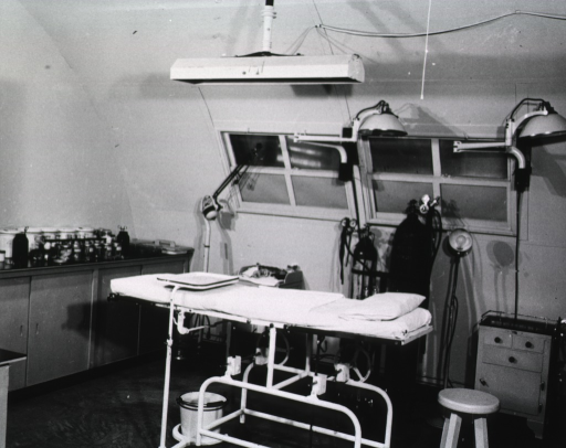 <p>The operating room of an unidentified hospital.</p>