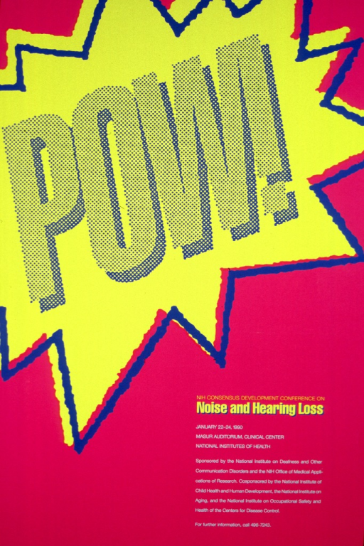 <p>&quot;POW!&quot; is surrounded by large stars suggesting a loud noise.</p>