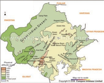 Physical map of rajasthan open i physical map of rajasthan altavistaventures Gallery
