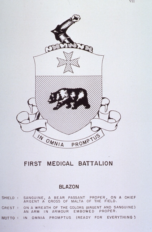 <p>Insignia of First Medical Battalion.</p>