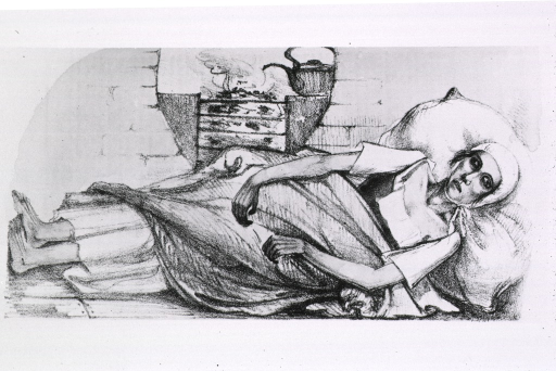 <p>&quot;Blue stage of the spasmodic cholera.  Sketch of a girl who died of cholera in Switzerland, November, 1831.&quot;</p>