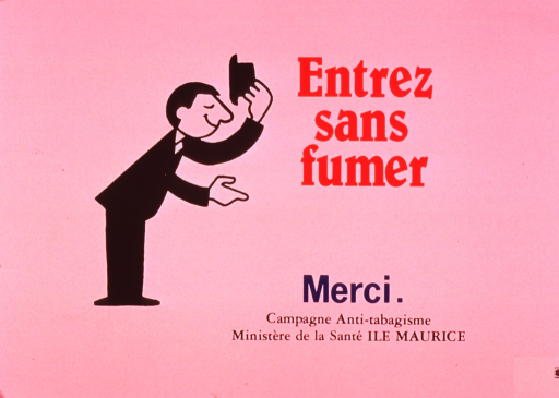 <p>Predominantly white poster with multicolor lettering.  Title near upper right corner.  Visual image is an illustration of a man tipping his hat and bowing at the waist.  The man stands in profile and extends one hand.  Note and publisher information near lower right corner.</p>