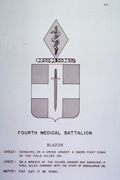 <p>Insignia of Fourth Medical Battalion.</p>