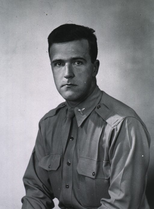 <p>Half-length, full face, wearing uniform (Captain).</p>
