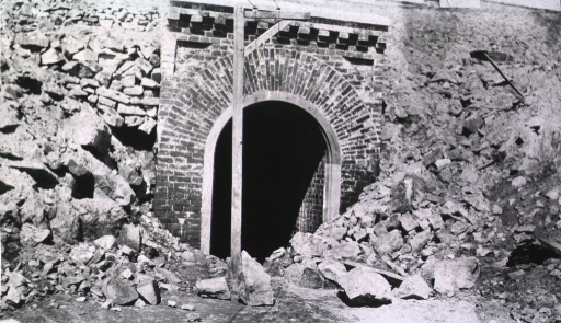 <p>The entrance to underground wards at the Naval Hospital.</p>