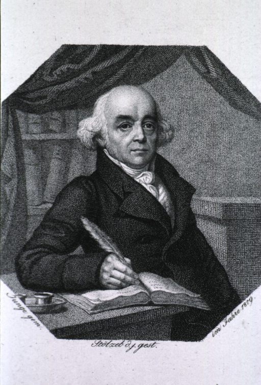 <p>Half-length, right pose, seated at desk, full face; writing.</p>