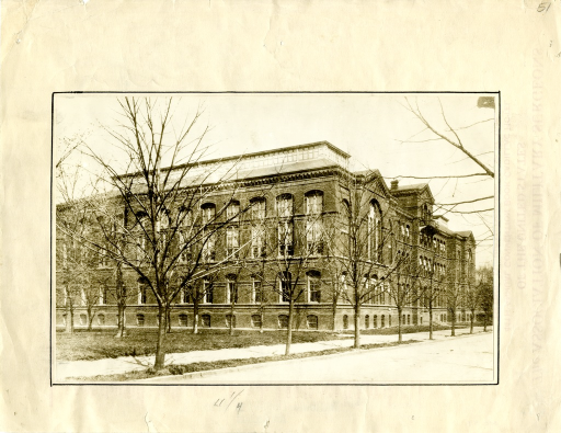 <p>The Army Medical Museum and Library located on the corner of South B Street (now Independence Ave.) and 7th Street SW, Washington D.C.</p>