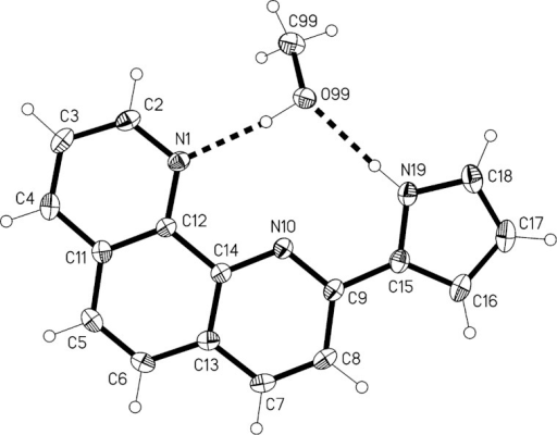 The Structure Of Compound 2ch3oh In The Crystal Ellip