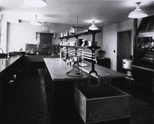 <p>Laboratory (one of five) without workers.</p>