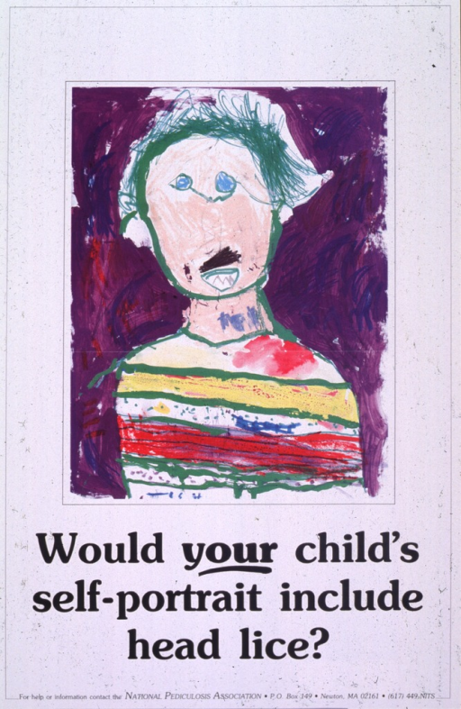 <p>White poster with black lettering.  Upper portion of poster features a reproduction of a watercolor painting of a child against a purple background.  Title below painting.  Publisher information at bottom of poster.</p>