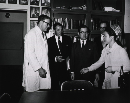 <p>Japanese Prince and Princess visit NIH in Sept. 1971.  They toured Buildings 36 and 37 and met with Building 1 staff.</p>