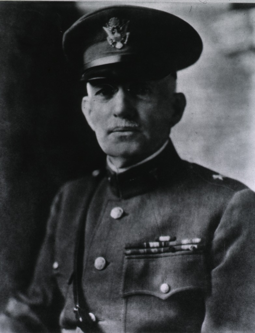 <p>Head and shoulders, left pose, full face; wearing uniform and cap (Brigadier General).</p>