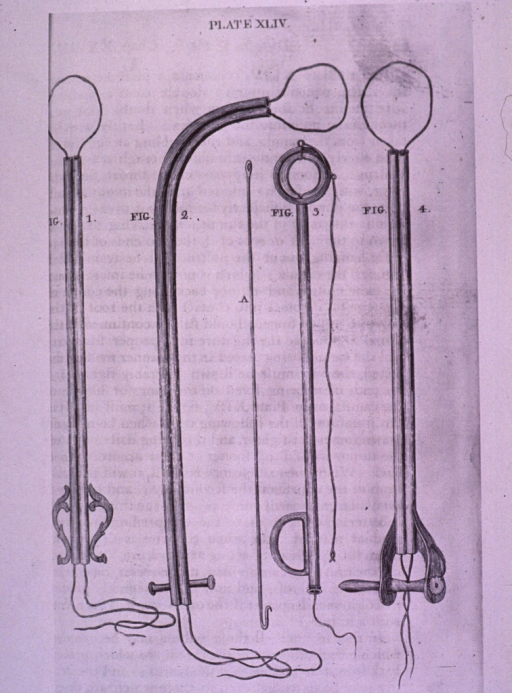 <p>Tubular devices with a length of string looped through the tubes; several types.</p>