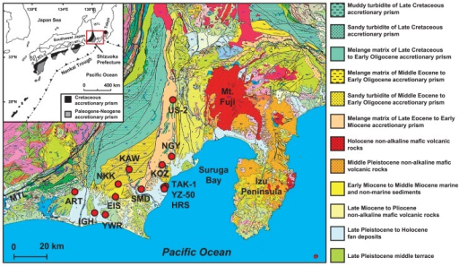 Geological map of the study area the location of the a open i geological map of the study area the location of the accretionary prism known as the publicscrutiny Image collections