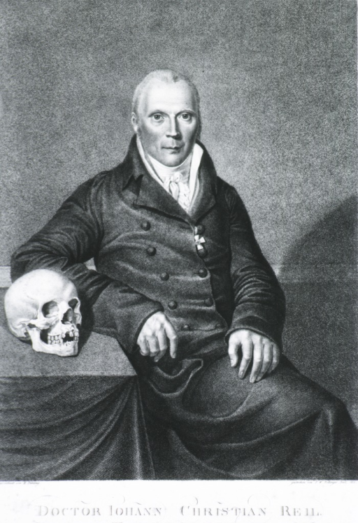 <p>Seated figure, with skull on table at left.</p>