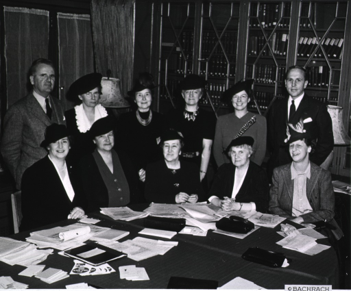 <p>Group photo of the 1940 Executive Committee of the National Organization for Public Health Nursing.</p>