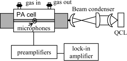 Schematic diagram of the photoacoustic sensor.